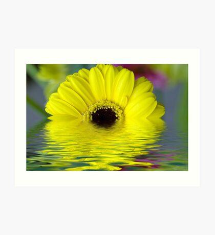 Shimmering Yellow Art Print