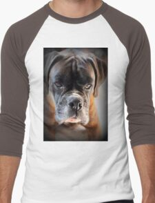 Go Ahead .... Make My Day  ~ Boxer Dogs Series ~ Men's Baseball ¾ T-Shirt