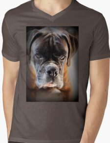 Go Ahead .... Make My Day  ~ Boxer Dogs Series ~ Mens V-Neck T-Shirt