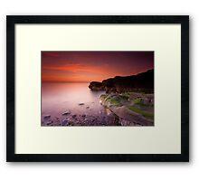 Sunset on Parton Beach Framed Print