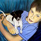 "Jet and his dog Speedo by Belinda ""BillyLee"" NYE (Printmaker)"