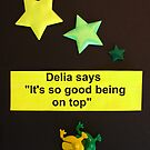 "Delia Says "" It's so good being on top "" by wiggyofipswich"