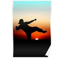 Sunset martial arts Poster