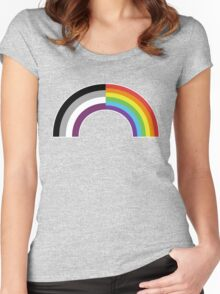 Homo-asexual Rainbow Women's Fitted Scoop T-Shirt