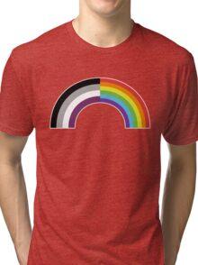 Homo-asexual Rainbow Tri-blend T-Shirt