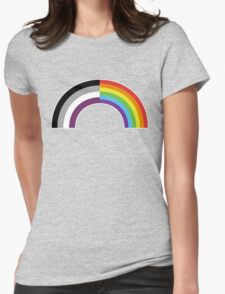Homo-asexual Rainbow Womens Fitted T-Shirt