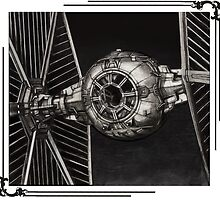 TIE-FIGHTER framed by Byron Stoddard