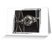 TIE-FIGHTER framed Greeting Card