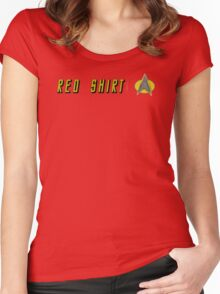 EXPENDABLE RED SHIRT STAR TREK Women's Fitted Scoop T-Shirt