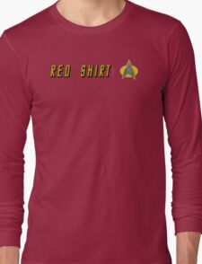 EXPENDABLE RED SHIRT STAR TREK Long Sleeve T-Shirt