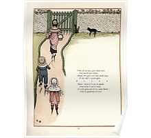 Under the Window Pictures and Rhymes for Children Edmund Evans and Kate Greenaway 1878 0057 Cat and Green Gate Poster