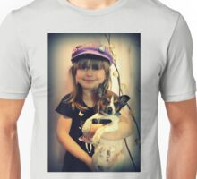 Portrait ~ Girl And Dog ~ Unisex T-Shirt