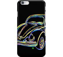 Neon VW Bug iPhone Case/Skin