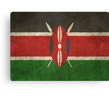 Old and Worn Distressed Vintage Flag of Kenya Canvas Print