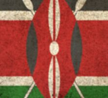 Old and Worn Distressed Vintage Flag of Kenya Sticker