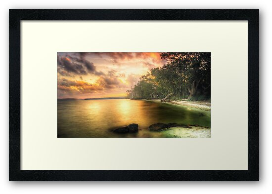 The Days End-Bombah Point Great Lakes NSW by Rodney Trenchard