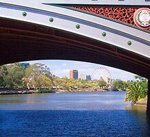 The view under Princes Bridge, Melbourne by Elana Bailey