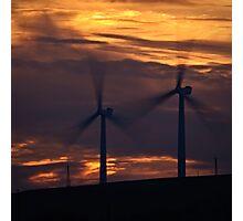 Turbine Sunset Photographic Print