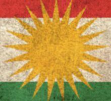 Old and Worn Distressed Vintage Flag of Kurdistan Sticker