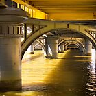 Shapes under Sandridge Railway Bridge, Melbourne by Elana Bailey
