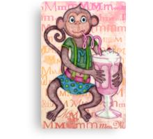 Monkey's Milkshake - mmmm! Canvas Print