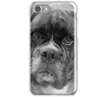 Contemplating My New Years Resolution ~ Boxer Dogs Series iPhone Case/Skin