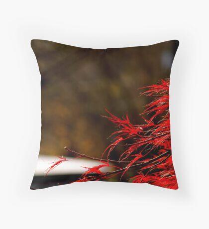 Burning Bush Throw Pillow