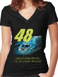 4 time Champion Women's Fitted V-Neck T-Shirt
