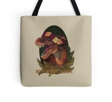 Dinosaur Eats Man Tote Bag