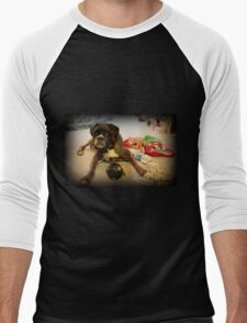 Is That Another Christmas Present For Me ?  - Boxer Dogs Series Men's Baseball ¾ T-Shirt