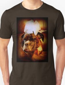 Boxer Dog With Bow - Boxer Dogs Series T-Shirt