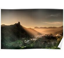 The Golden Rays Of The Evening Sun Poster