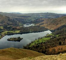 Grasmere and Rydal Water by Jamie  Green