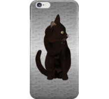 Black Cat on Metal iPhone Case/Skin