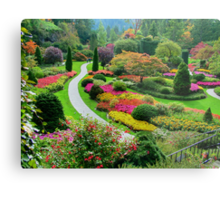 Butchart Gardens BC, Canada in the Fall Metal Print