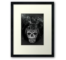 Hell Realm  .. world of the demon Framed Print