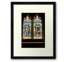Hubberholme Church Window #1 Framed Print