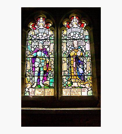 Hubberholme Church Window #1 Photographic Print