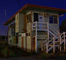 Wodonga at Night (Signal box) 2 by John Vandeven