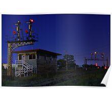 Wodonga at Night (Signal box) Poster