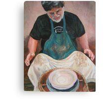 Village Potter Canvas Print