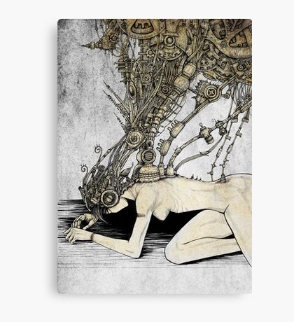 Lady Cyborg Canvas Print