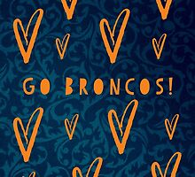 Broncos by chippedteacup