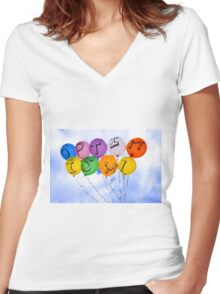 Optimism Every day is Sunny Women's Fitted V-Neck T-Shirt