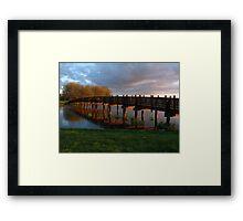 Park Bridge Sunset Framed Print