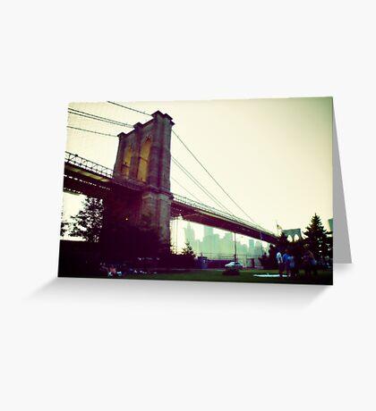 Brooklyn Bridge from Brooklyn Bridge Park Greeting Card