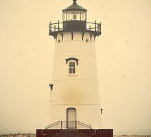 Edgartown Harbor Lighthouse. Martha's Vineyard, Vintage Poster by yiuphotography