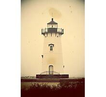 Edgartown Harbor Lighthouse. Martha's Vineyard, Vintage Poster Photographic Print