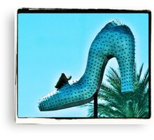 Silver Slipper Canvas Print