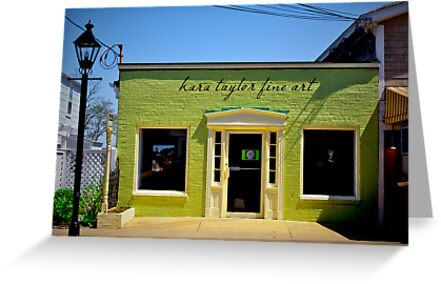 Fine Art Shop at Oak Bluffs Martha's Vineyard. Green Facade. by yiuphotography